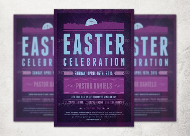 Easter Celebration Church Flyer Template