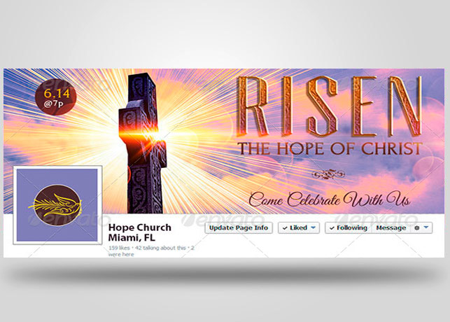 Easter Service Facebook Timeline Cover Template