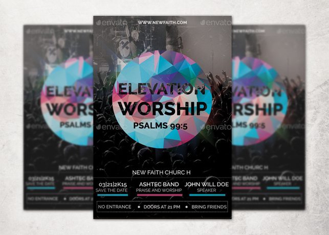 Elevation Worship Church Flyer Template