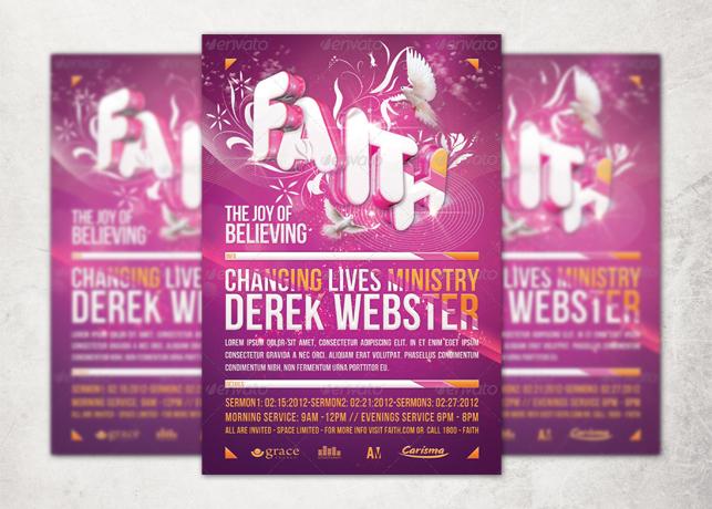 Faith Church Flyer and CD Template