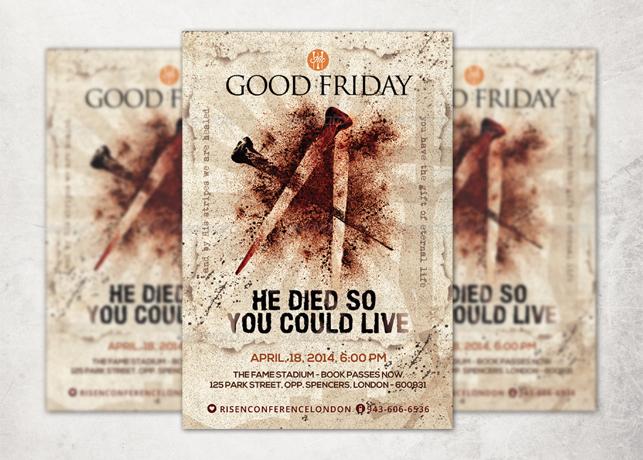 Good Friday Church Flyer Template
