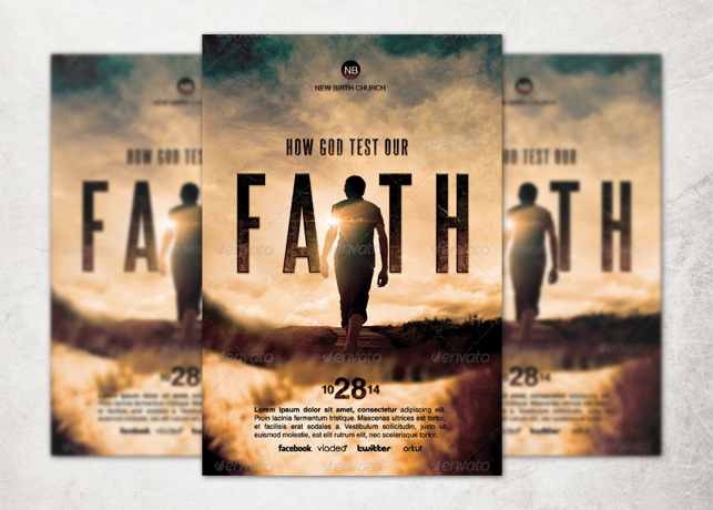 How God Test Our Faith Church Flyer Template