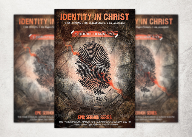 Identity in Christ Church Flyer Template