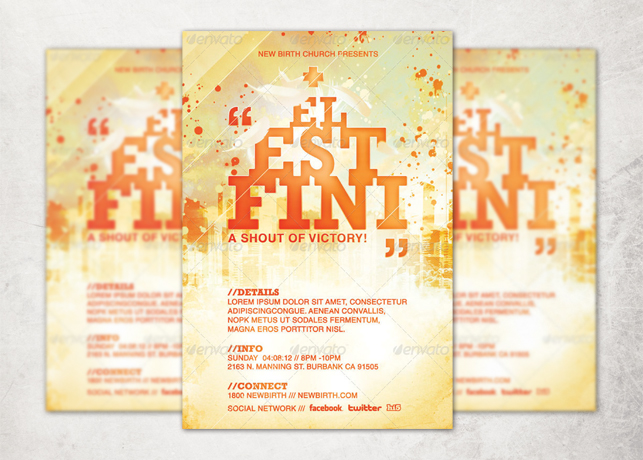 It is Finished Church Flyer and CD Template