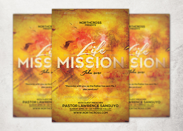 Life Mission Church Flyer Template