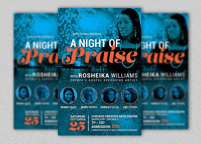 Praise Concert Flyer Poster Template