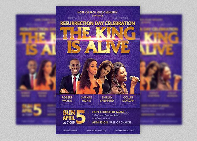 Resurrection Day Concert Flyer Template