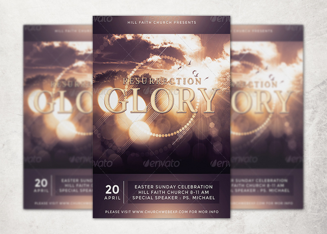 Resurrection Glory Flyer Template