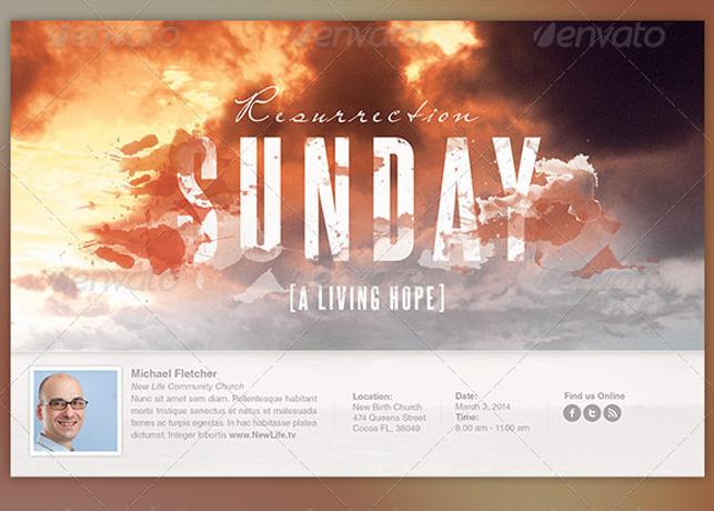 Resurrection Sunday Church Flyer Template