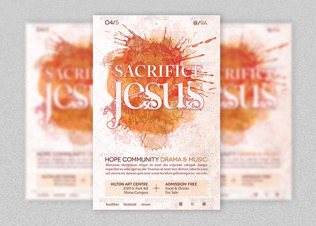 Sacrifice of Jesus Church Flyer Template