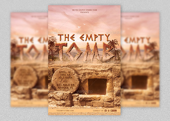 Empty Tomb Church Flyer and Postcard Template