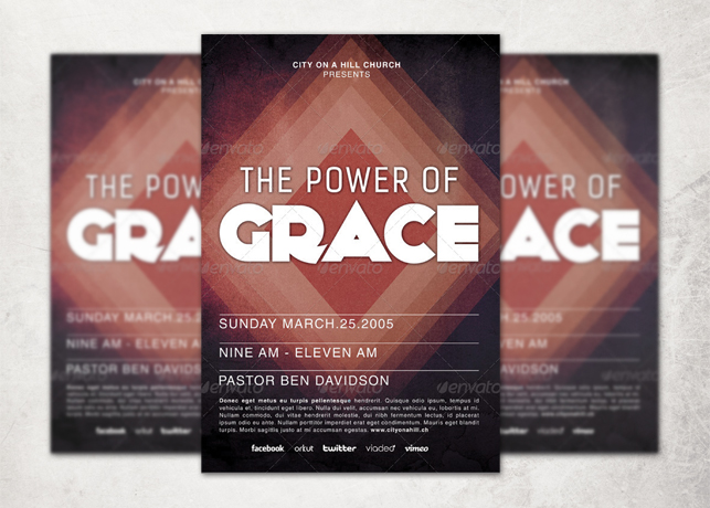 The Power of Grace Church Flyer Template