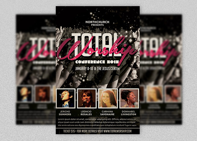 Total Worship and Gospel Night Flyer