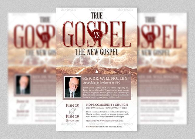 True Gospel vs New Gospel Church Flyer Template
