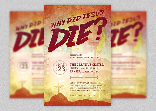 Why Did Jesus Die Church Flyer Template