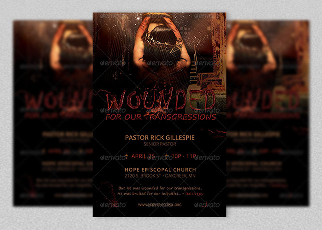 Wounded Church Flyer Template
