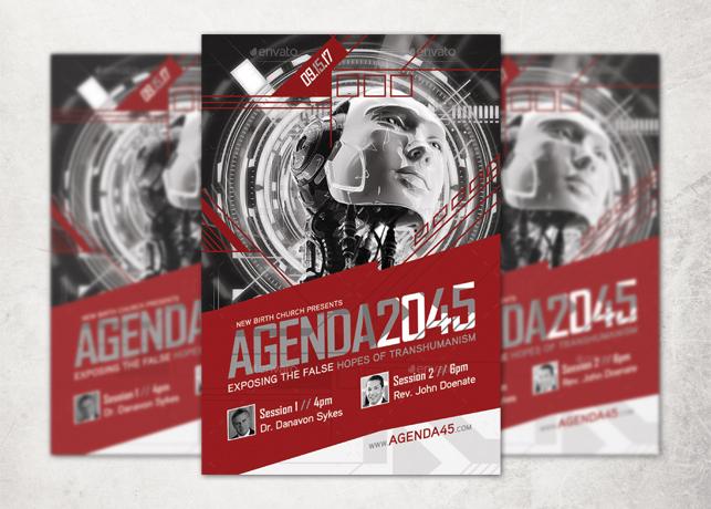 Agenda 2045 Church Flyer Template