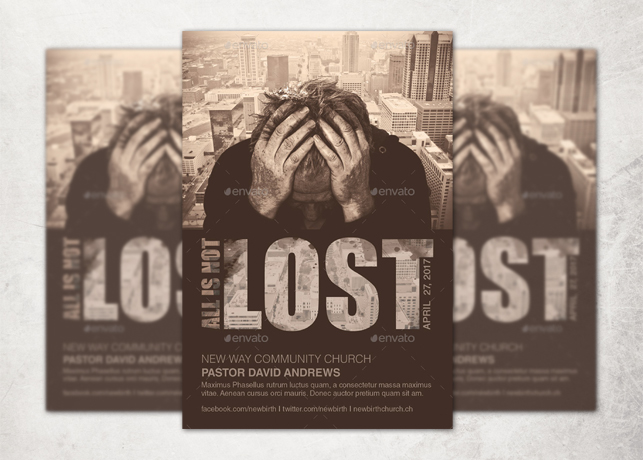 All is Not Lost Church Flyer Template