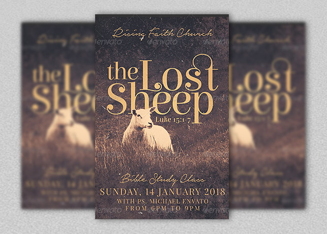 Lost Sheep Flyer Template