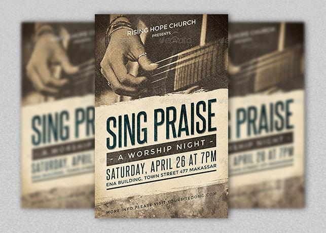 Sing Praise Flyer Template