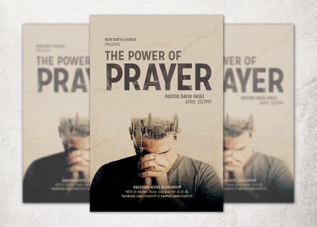 The Power of Prayer Church Flyer Template