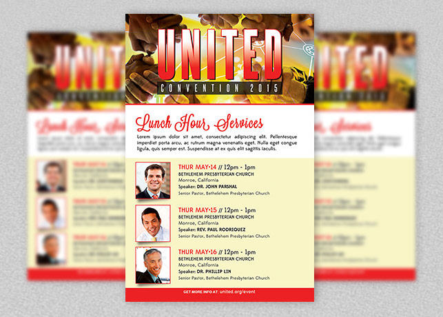 Church Lunch Hour Service Flyer Template
