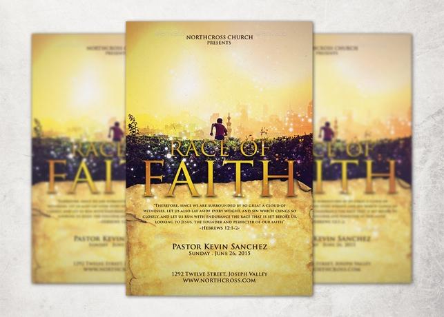 Race of Faith Church Flyer