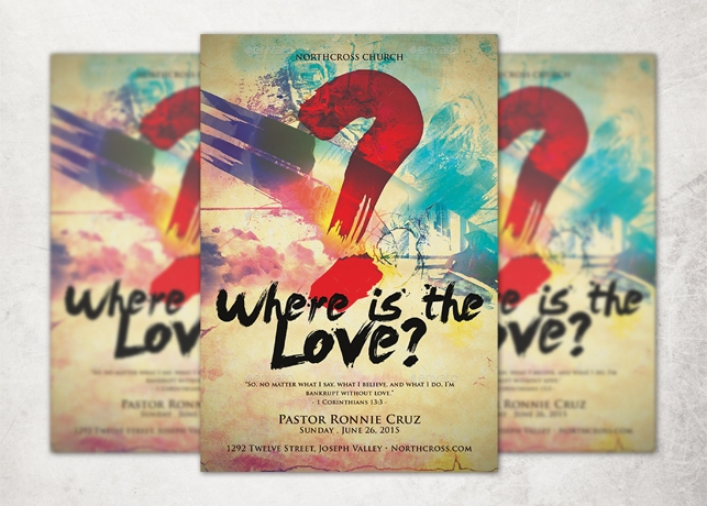 Where Is the Love Church Flyer