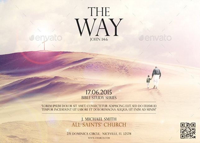 The Way Of The Spirit church flyer template