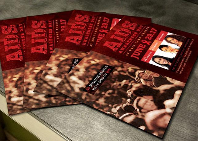 AIDS Awareness Church Flyer Template