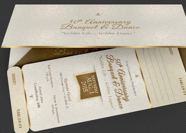 Anniversary Banquet Ticket and Jacket Template