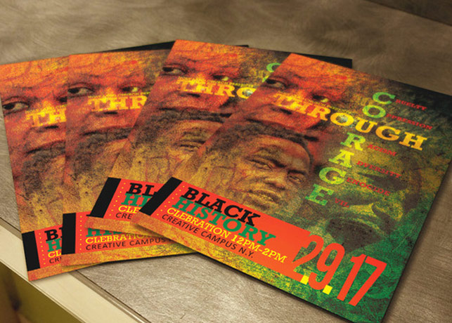 Black History Courage Flyer Template