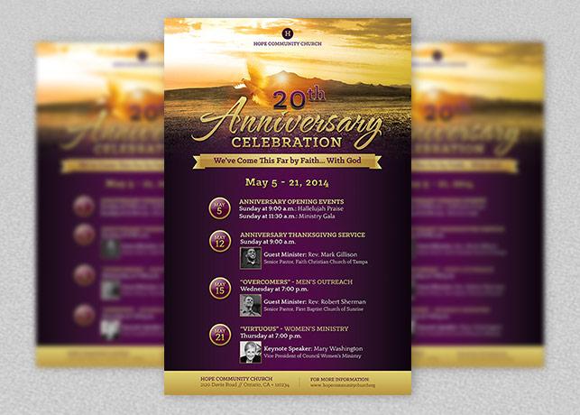 Church Anniversary Flyer Poster Template