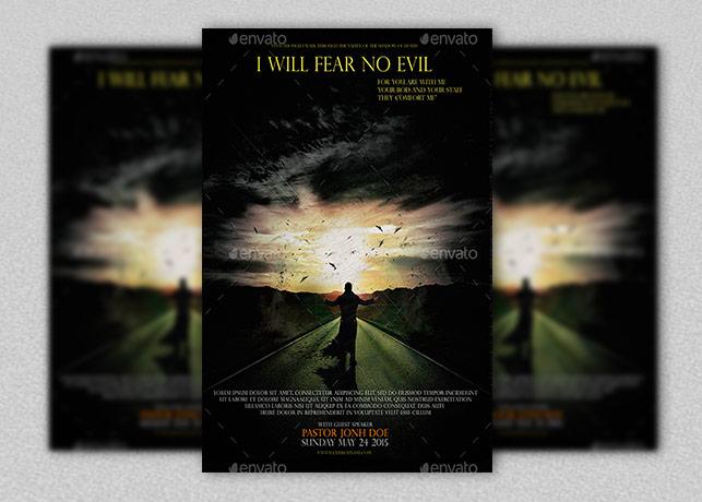 Fear No Evil Church Flyer