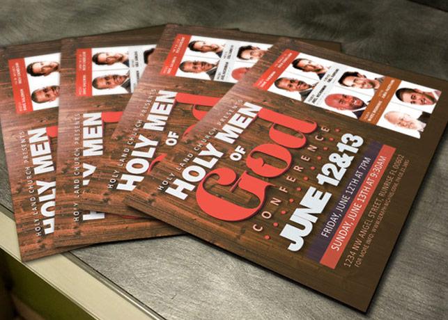 Men of God Conference Flyer Template