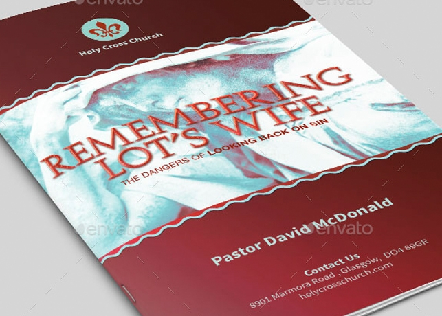 Remembering Lot's Wife Church Bulletin Template