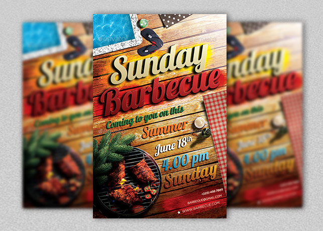 Sunday Barbecue Flyer template