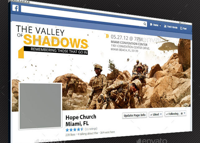 Valley Facebook Timeline Cover Template