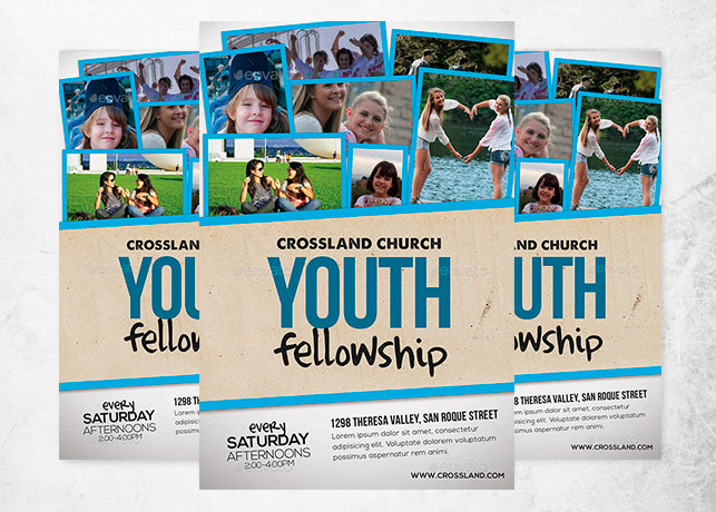 Youth Fellowship Church Flyer Inspiks Market