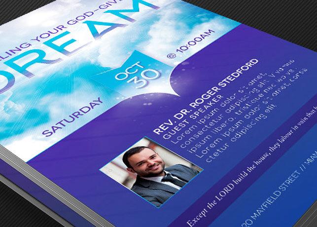 Dream Church Flyer Poster Template