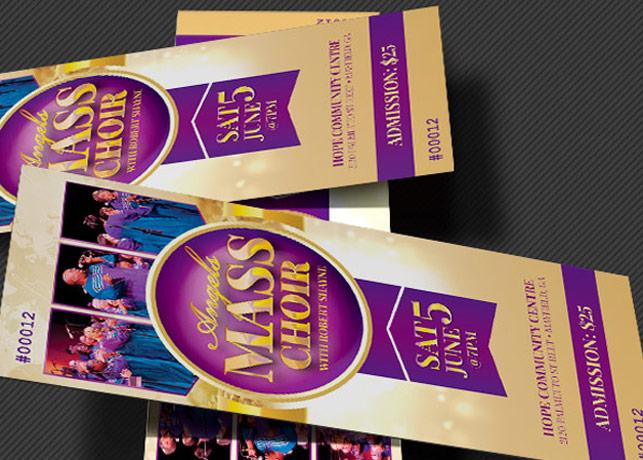 Mass Choir Concert Ticket Template