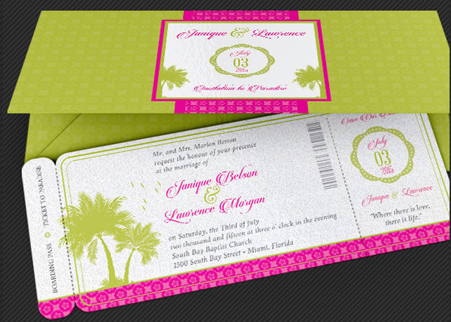 Tropical Wedding Stationery Template Set