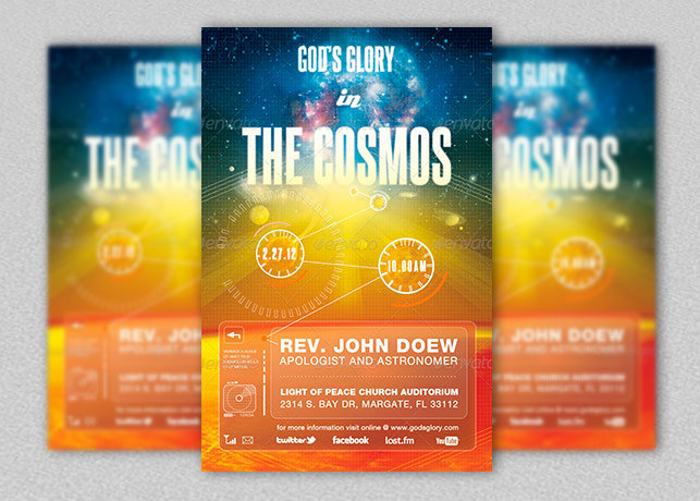 God's Glory In The Cosmos Church Flyer and CD