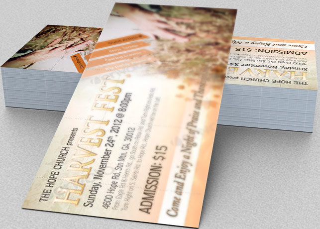 Harvest Fest Flyer, CD and Ticket Template