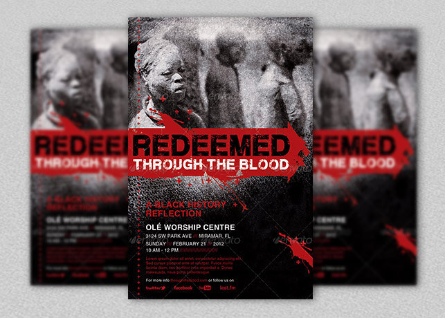Redeemed Black History Flyer and CD Template