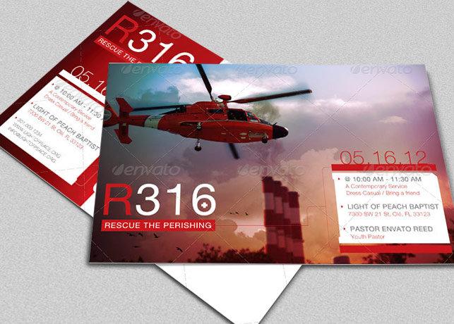 Rescue Flyer CD Artwork Photoshop Template