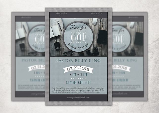Time for God Bible Study Flyer Template