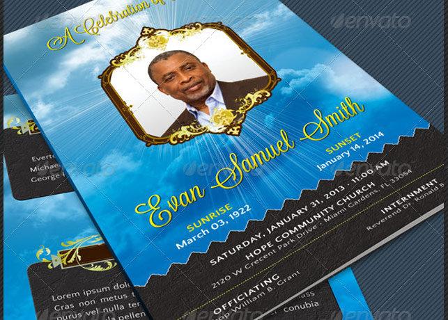 Vintage Style Funeral Program Template