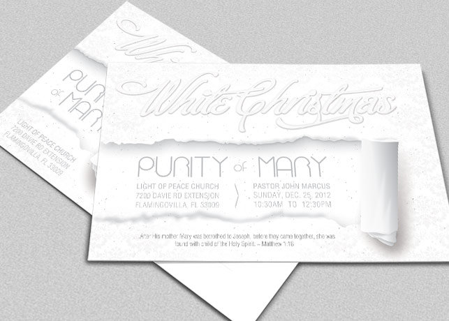 White Christmas Flyer and CD Template