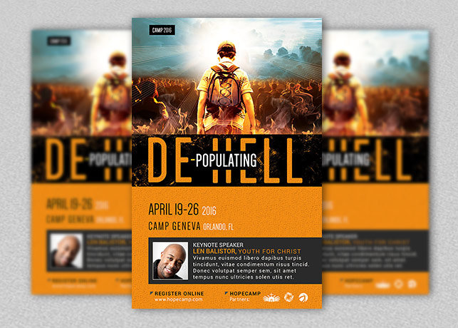 Youth Camp Church Flyer and Poster Template